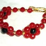 Red Agate Bracelet Handmade Jewelry gift ideas