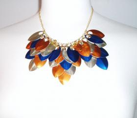 Scale Maille Necklace Handmade Jewelry Gift Idea